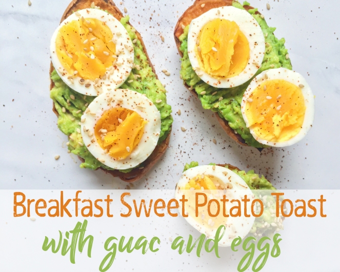 sweet potato toast with guac