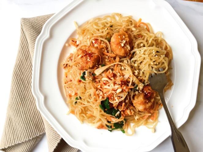 Sweet Potato Noodle Pad Thai with Ginger Garlic Shrimp.jpg