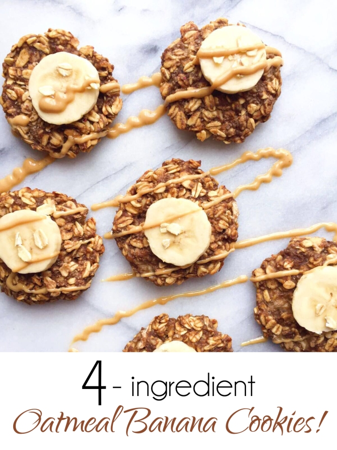 Oatmeal Banana Breakfast Cookies
