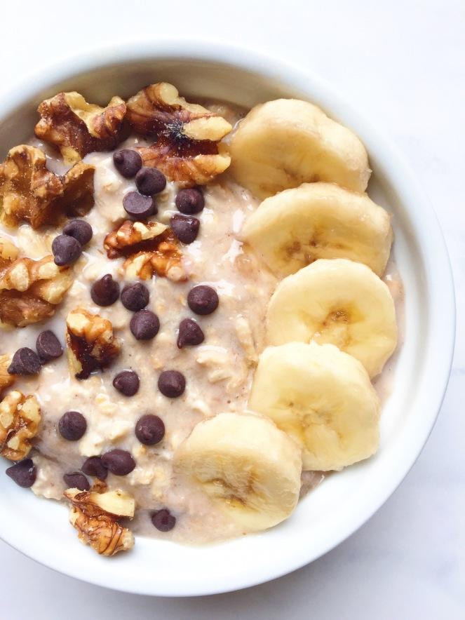 easy banana bread overnight oats