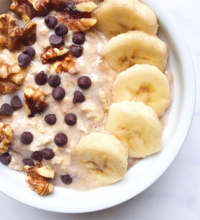 vegan banana bread overnight oats
